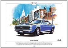 CHEVROLET Camaro ss396-FINE ART PRINT-Taglia a3 - 1967 SUPER SPORT Muscle Car