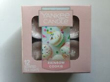 YANKEE CANDLE RAINBOW COOKIE TEA LIGHTS BOX OF 12 NEW HTF RETIRED SCENT