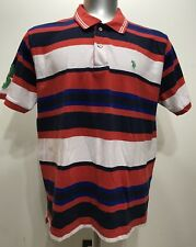 US Polo Assn. Stripes Short Sleeve Men Polo/Rugby Size XXLarge