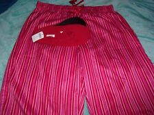 5ab29f03a7864 Women s Size 14 16 Red Pink Striped Pajama Bottoms by Cacique + New Slippers