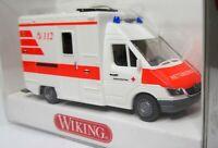 Wiking 1:87 Mercedes Benz Sprinter II Rettungswagen OVP 0321 04 DRK RTW