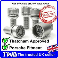 HIGH SECURITY ALLOY WHEEL LOCKING BOLTS PORSCHE 911 996 997 991 LUG NUTS [T0e]
