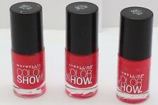 3PK Maybelline Color Show Nail Polish Pink Shock 200 .23 oz