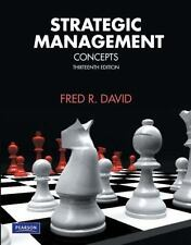 Strategic Management: Concepts (13th Edition), David, Fred R., Good Book