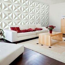 12 Tiles Covering 32 sq/ft 3D PVC Wall Panel Diamond Wallpaper Panels Home Decal