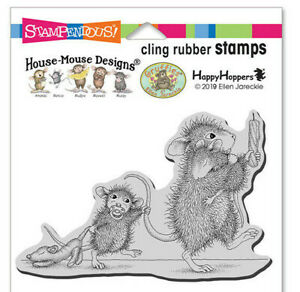 Stampendous House Mouse Bedtime Babies Rubber Stamp