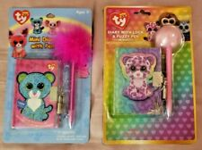 Leona & Glamour Ty Beanie Boo Mini Plush Diary Set of 2 - FREE SHIPPING