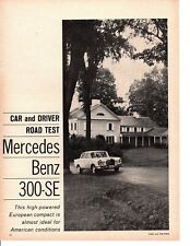 1963 MERCEDES-BENZ 300-SE ~ ORIGINAL 4-PAGE ROAD TEST / ARTICLE / AD