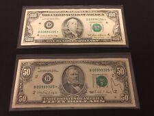 Rare $50 & $100 Star Replacement Notes 1985 & 1990 NY Cleveland FRN Make Offer!!