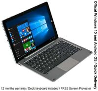 """Chuwi Hi10 Pro Tablet PC with Dock Keyboard 10.1"""" WIndows 10 + Android  64GB NEW"""