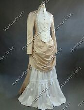 Victorian Dress Edwardian Bustle Reenactment Theatrical Punk Costume V 139 XXL