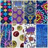 African Cotton Print Fabric Ankara Wax SUPERIOR QUALITY Multi 3 - 6 YARDS