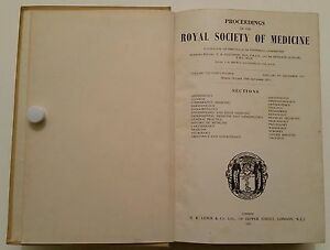 VINTAGE MEDICAL BOOK.1951.ROYAL SOCIETY OF MEDICINE.ILLUSTRATED.1068 PAGES.PROP.