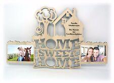 Home Sweet Home  + Name Bilderrahmen Geschenke zum Umzug Einzug Freunde Familie
