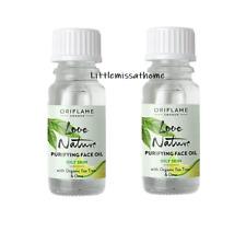 2x ORIFLAME LOVE NATURE PURIFYING FACE OIL ORGANIC TEA TREE & LIME oily skin