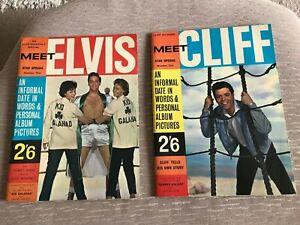 Elvis magazine Meet Elvis star special no.1 PLUS issue no.2 Cliff Richard ! 1962