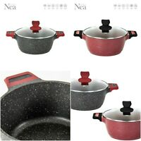 NEA IMPACT STOCKPOT MARBLE COATED NON-STICK COOKING POT COOKWARE CASSEROLE