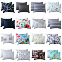 2 Pcs Home Decor Standard Pillow Cases Sets Bed Room Throw Pillowcase 16 Colors