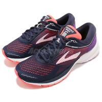 Brooks Launch 5 Navy Coral Purple Women Running Training Shoes 120266 1B
