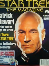 STAR TREK THE MAGAZINE OCTOBER 2001 PATRICK STEWART HARD AT WORK ON STAGE.