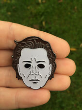 HALLOWEEN - MICHAEL MYERS FACE/ MASK ENAMEL PIN BADGE BY TOTALLY TUBULAR