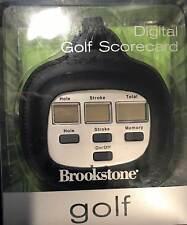 NOS Brookstone Electronic Golf Scorecard - Easy To Use Golf Scorecard