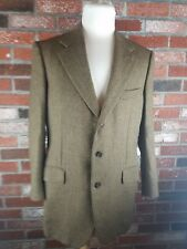 Sulka Made in  Italy Brown Herringbone 100% BABY ALPACA Sport Coat Jacket 54 44