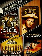NEW4DVD SET - GUNFIGHT AT THE OK CORRAL + SHANE + THE WILD BUNCH + THE SEARCHERS