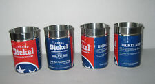 Lot 4 George Dickel Tennessee USA Whiskey Whisky Metal Cups Cans Tins Dickelade