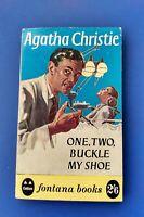 ONE TWO BUCKLE MY SHOE * AGATHA CHRISTIE * FONTANA 1959 VINTAGE PB * 1ST EDITION