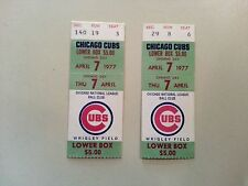 Mets/Cubs Opening Day 1977  Ticket stubs (2) Tom Seaver's 183rd Win !