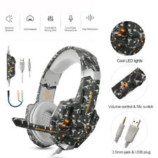 KOTION EACH G9000 3.5mm Gaming Stereo Headset LED Headphone Mic For Gamers P9Y9
