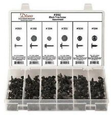 Disco #8125  Nylon Black Pop Rivet Assortment 155 pcs. with clear case