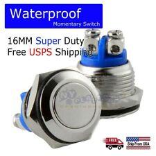 12volt Metal Waterproof Momentary Push Switch 16mm Horn Starter Switch Button
