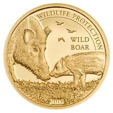 Mongolei 1.000 Togrog 2018 Wildschwein Wildlife Protection (9.) 1/62 Oz Gold PP
