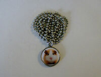 """Genuine U.S. Dime Pendant GUINEA PIG Charm with 24"""" Chain Necklace"""