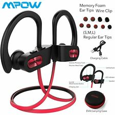 Mpow Flame Bluetooth Headphones Waterproof IPX7 Earphone Sport Headset UK STOCK