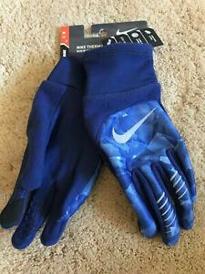 Nike Therma-Fit Elite 2.0 Run Women's Running Gloves Size Large NEW Blue