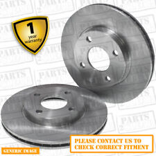 Front Vented Brake Discs Ford Fiesta 1.4 16V Hatchback 2001-08 80HP 258mm