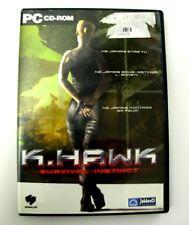 K.HAWK SURVIVAL INSTINCT jeu pour PC / Game for PC.
