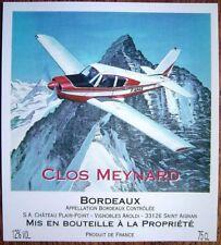 BERGESE Buck Danny Avion Cesna  Etiquette de Vin BD Bordeaux Clos Meynard