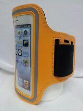 LIGHT ORANGE / DARK YELLOW Armband Case Jogging Running Apple iPhone 5 5S Holder