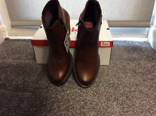 Ladies Rieker Boots, Style 55292-24, Brown Leather, Size 40, New With Box.