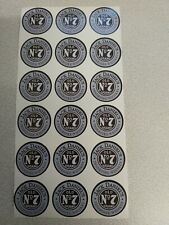 18PCS-STICKERS JACK DANIELS  N7 OLD BRAND  ROUND- 35mm-NEW!!!