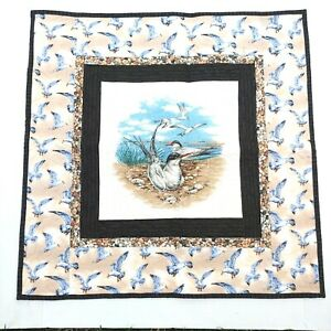 Handmade Quilted Table Runner Topper  Square Beach Seagulls birds Shore