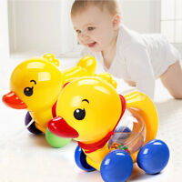Lovely Pull Rope Duck Animals Baby Rattles Shaking Bell Toy Kids Music Handbell
