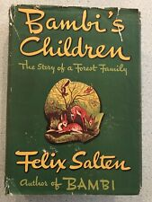 Bambi's Children Felix Salten First Edition Book 1939
