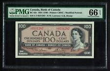 Canada,Bank of Canada,BC-43c,1954,100 Dollars,PMG 66EPQ