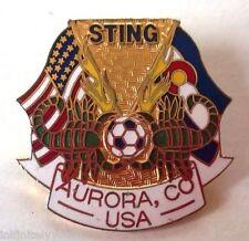 STING Soccer NASL Sport Souvenir Lapel Hat Pin ~ Aurora, CO USA