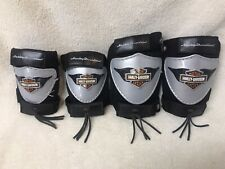 Lot of (4) Kids Youth Harley Davidson Motor Cycle Knee Pads Elbow Pads